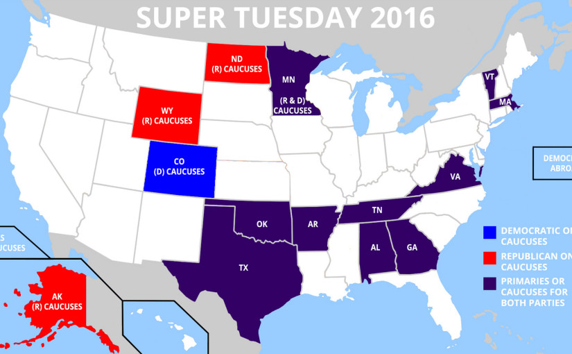 Din guide inför Super Tuesday 2016