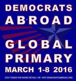 Demokrater som bor utanför USA har ett eget primärval.