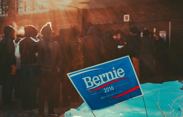 Utanför kampanjmöte med Bernie Sanders i Minneapolis, Minnesota. Foto: Tony Webster (CC BY-SA 2.)