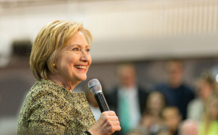 Hillary Clinton på kampanjmöte i Pittsburgh, Pennsylvania.  Foto: Nathaniel F (CC BY-ND 2.0)