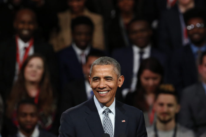 Barack Obama håller ett tal i London i april 2016.  (Foto: U.S. Embassy London)