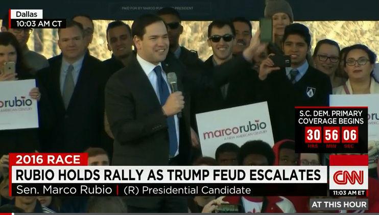 Rubio: Trump var rädd för att han hade kissat på sig under debatten
