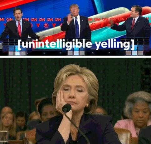Clintons tweet blev det mest delade under republikanska debatten