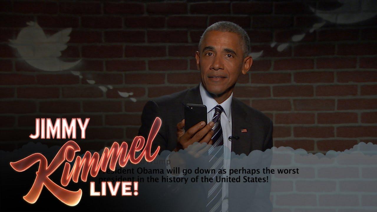 Nya Mean Tweets med Obama