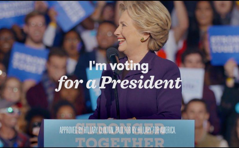 Katy Perry i ny annons för Clinton