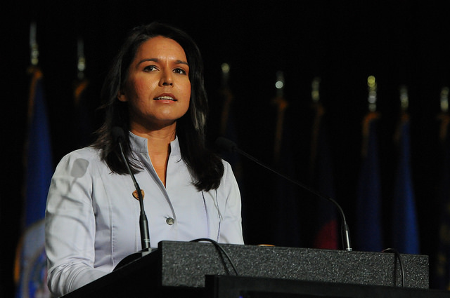 Av 7 kandidater lyckades Tulsi Gabbard komma 11:a i Nevada