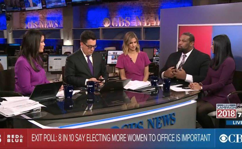 CBS News lila slag för neutralitet på valdagen