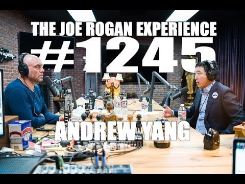 Presidentkandidaten Andrew Yang på Joe Rogans podcast