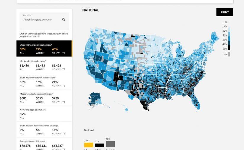 Skuldsatta i USA – en interaktiv karta